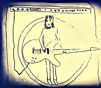 Bass guitar, joy, music, performing