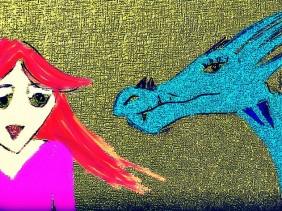sketch, story, dragon