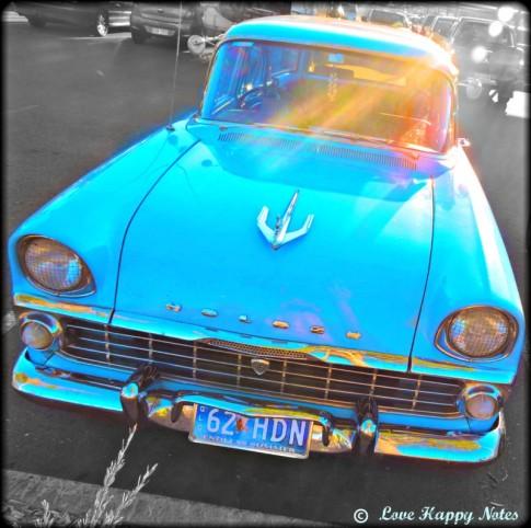 sunshine on a car